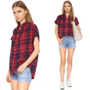 Madewell Central Shirt in Bushwick Plaid Size L